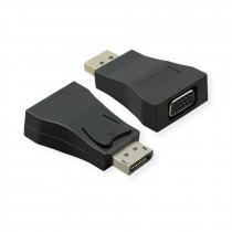 DisplayPort - VGA adapter 15cm Value črn