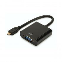 Adapter HDMI-D Mikro M - VGA Ž 10cm Digitus