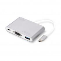 Pretvornik USB 3.1 Tip-C - VGA +USB 3.0 + USB 3.0 Tip-C DIGITUS