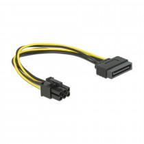Adapter SATA M - 6pin za grafične kartice PCI-express 0,2m Delock