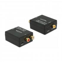 Pretvornik AVDIO Analog 2xRCA Ž - SPDIF/Digitalni Koax HD stereo Delock